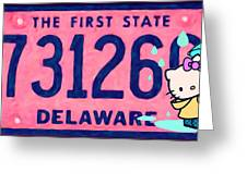 Delaware License Plate Greeting Card
