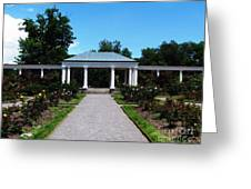 Delaware Park Rose Garden And Pergola Buffalo Ny Oil Painting Effect Greeting Card