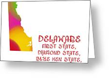 Delaware State Map Collection 2 Greeting Card