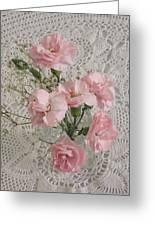 Delicate Pink Flowers Greeting Card by Good Taste Art