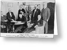 Delegation In London Including  Arthur Greeting Card