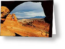 Delicate Arch Framed Greeting Card