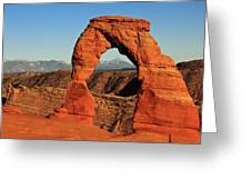 Delicate Arch Greeting Card by Karma Boyer