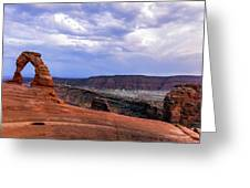 Delicate Arch Located In Arches Greeting Card