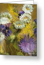 Delicate Aroma I -unframed-with Gold Leaf By Vic Mastis Greeting Card by Vic  Mastis