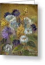 Delicate Aroma II -unfarmed-with Gold Leaf By Vic Mastis Greeting Card