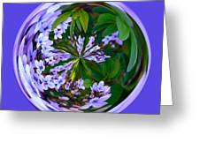 Delicate Flowers Orb Greeting Card