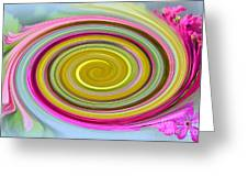 Delicate Pink Twirl Greeting Card