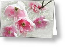 Delicate Tree Peonies Branching Out Greeting Card