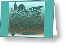 Delicate Turquoize Stroke Greeting Card