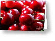 Delicious Cherries Greeting Card