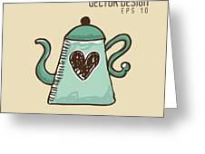 Delicious Coffee Design Greeting Card