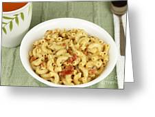 Delicious Macaroni Lunch Greeting Card