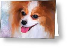 Delightful Papillon Greeting Card