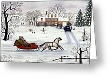 Delivering Gifts Greeting Card