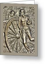 Delivering The Charge - Detail-b 1st New York Light Artillery - Fitzhughs Battery K Gettysburg Greeting Card