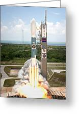 Delta II Launch With Space Telescope Greeting Card