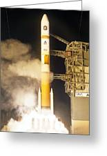 Delta Iv Rocket Taking Off Greeting Card