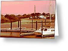 Delta Marina And Hues Of Color Greeting Card