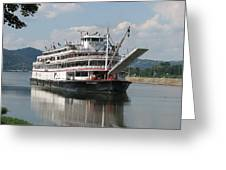 Delta Queen On Ohio River Greeting Card