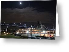 Delta Queen Under A Full Moon Greeting Card by Kathy  White