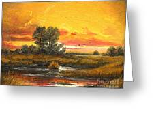 Delta Sunset Greeting Card