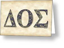 Delta Theta Sigma - Parchment Greeting Card