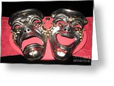 Masques / Tragedy/comedy Masks Greeting Card
