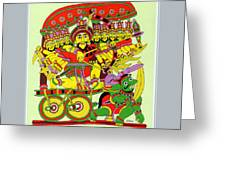 Demon King Ravana Greeting Card