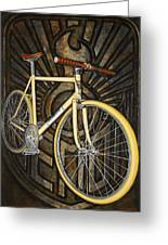 Demon Path Racer Bicycle Greeting Card by Mark Jones