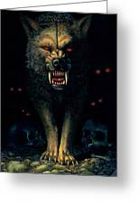 Demon Wolf Greeting Card