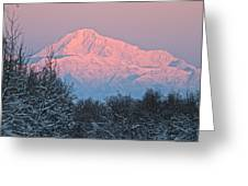 Denali December Sunrise Greeting Card