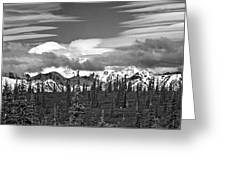 Denali In Clouds Greeting Card