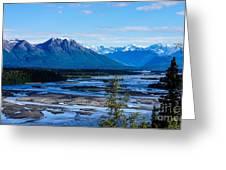 Denali Mountain Range Greeting Card