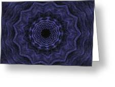 Denim Blues Mandala - Digital Painting Effect Greeting Card
