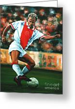 Dennis Bergkamp 2 Greeting Card by Paul Meijering