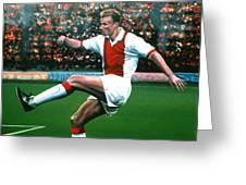 Dennis Bergkamp Ajax Greeting Card