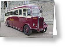 Dennis Lancet Vintage Bus Greeting Card