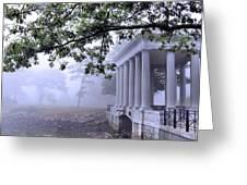 Dense Fog Plymouth Rock Canopy Greeting Card