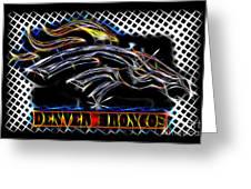 Denver Broncos 3 Greeting Card