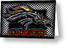 Denver Broncos 4 Greeting Card