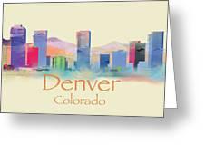 Denver Colorado Skyline II Greeting Card