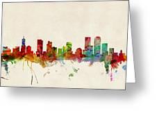 Denver Colorado Skyline Greeting Card