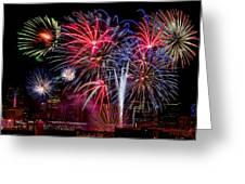 Denver Fireworks Finale Greeting Card