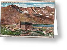 Denver Mountain Parks Antique Post Cards Greeting Card