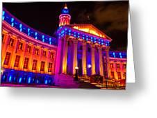 Denver Orange And Blue Pride Greeting Card
