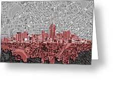 Denver Skyline Abstract 2 Greeting Card