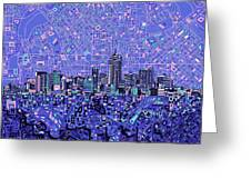 Denver Skyline Abstract 4 Greeting Card