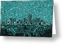 Denver Skyline Abstract 5 Greeting Card
