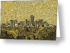 Denver Skyline Abstract 8 Greeting Card
